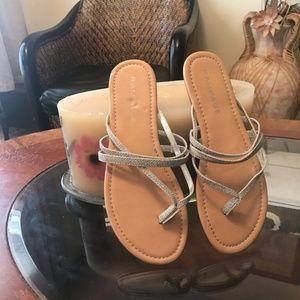 Rampage silver sandals